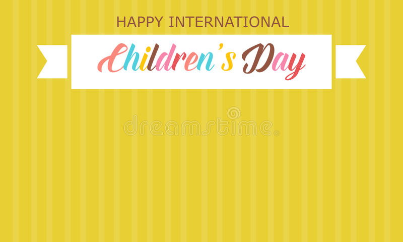 Childrens day with yellow background style royalty free illustration