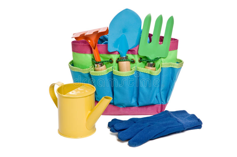 childrens gardening tools. Download Childrens Gardening Tools Stock Image. Image Of White - 25041793