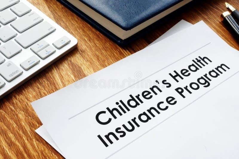 Childrens Health Insurance Program CHIP documents stock images