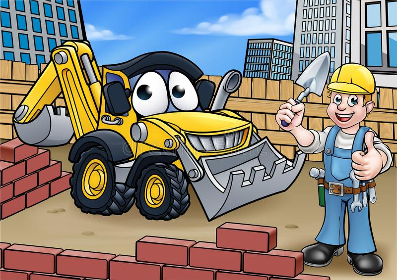 Construction Building Site Scene royalty free illustration