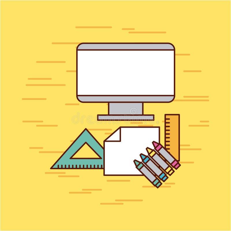 Childrens pencils color. Icon vector illustration design graphic royalty free illustration
