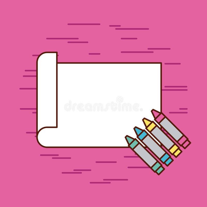 Childrens pencils color. Icon vector illustration design graphic stock illustration