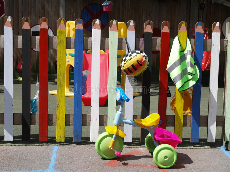 Download Childrens play area stock image. Image of fence, blue - 13654005