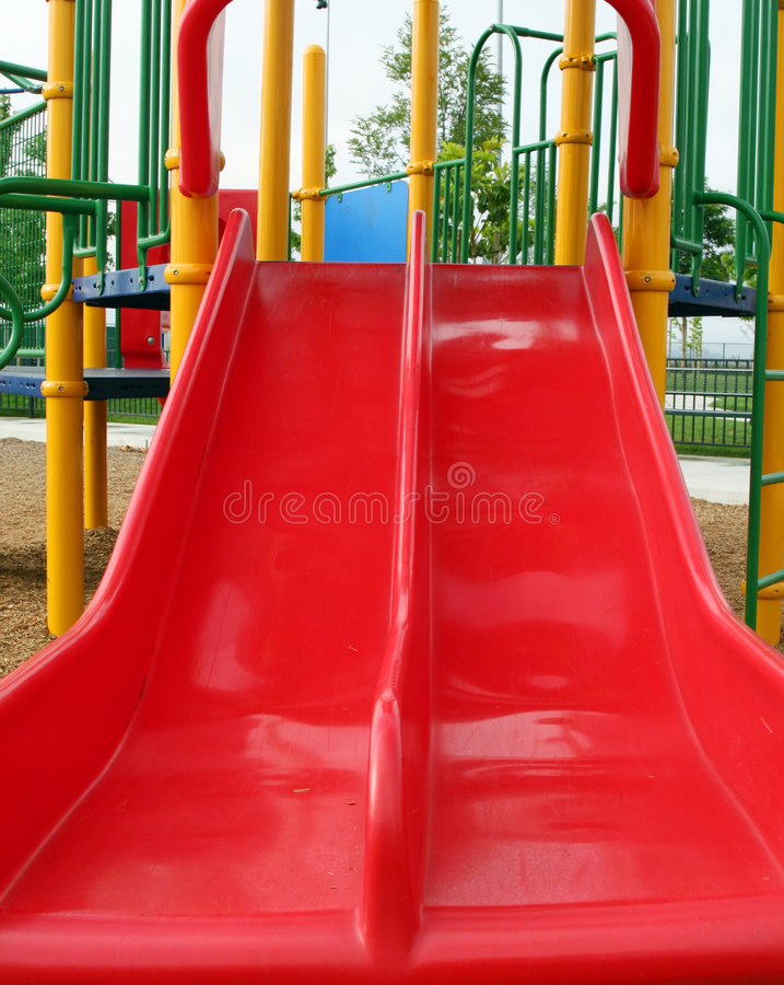 Download Childrens play slide stock image. Image of playground - 1403807