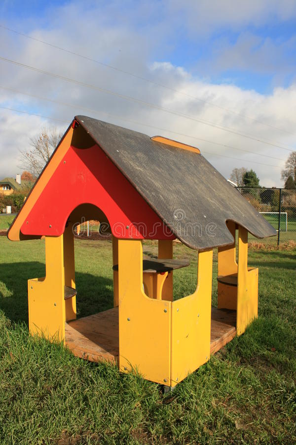 Childrens playground stock photo