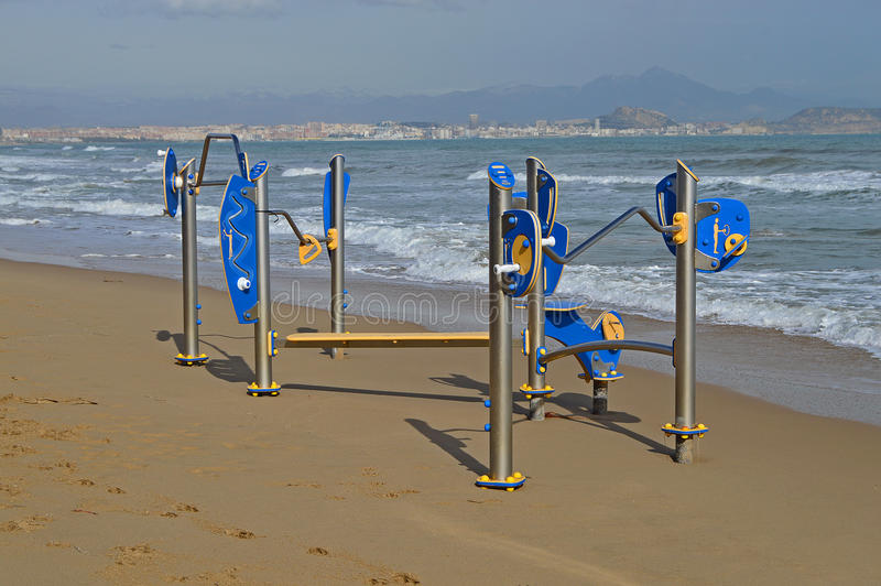 Childrens Playground On The Beach royalty free stock photography