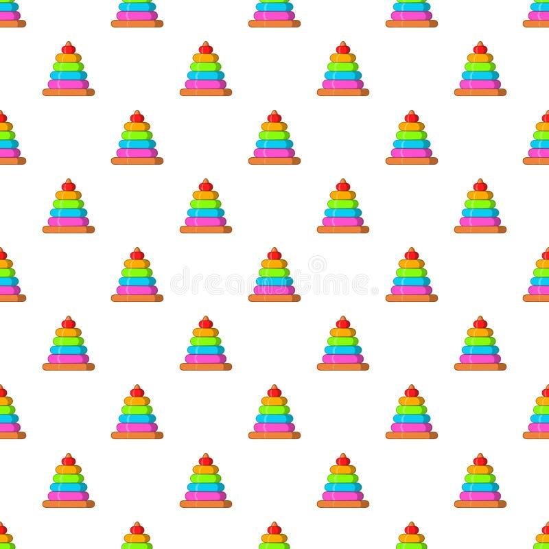 Childrens pyramid pattern, cartoon style. Childrens pyramid pattern. Cartoon illustration of childrens pyramid vector pattern for web vector illustration