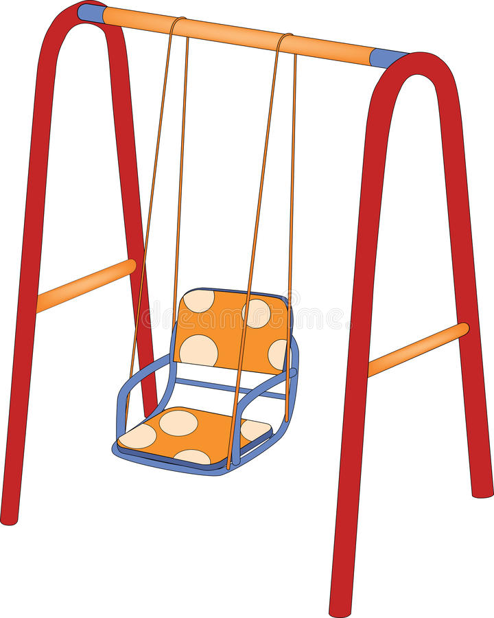 The childrens swing vector illustration
