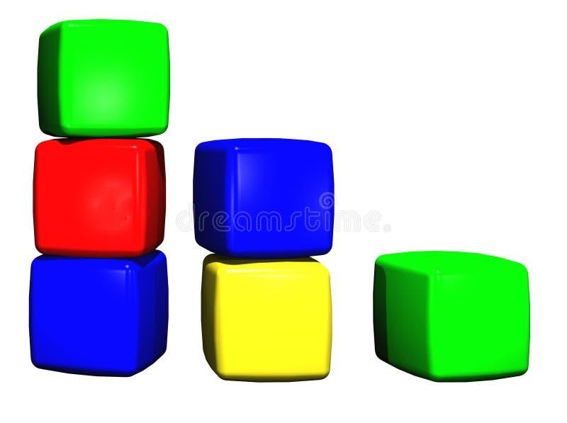 Childrens toy building blocks vector illustration