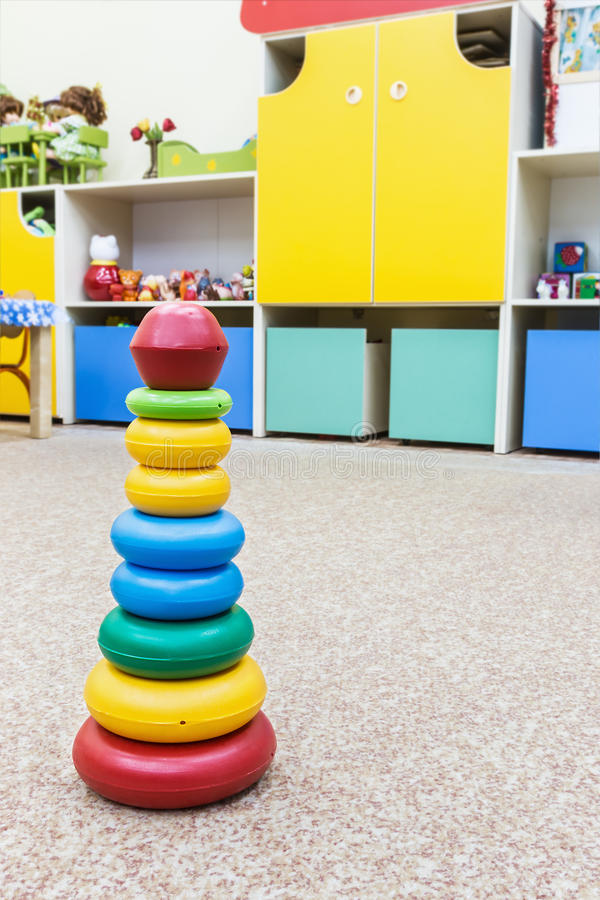 Childrens toy pyramid stock image