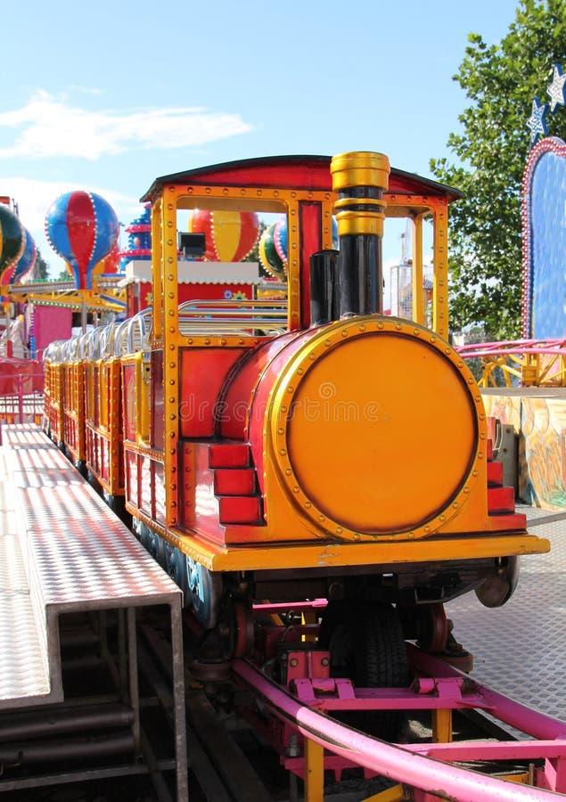 Childrens Train Ride. A Childrens Train Ride at a Fun Fair royalty free stock images