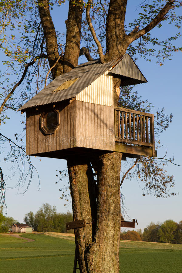 Childrens Treehouse stock images