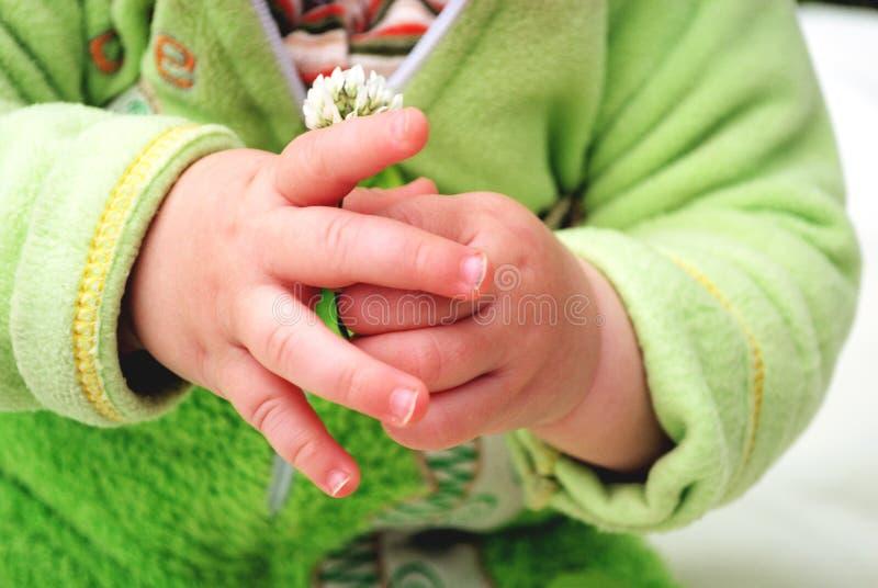 Childres händer arkivbild