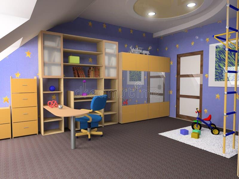 Download Childroom stock illustration. Illustration of loft, decor - 2890264