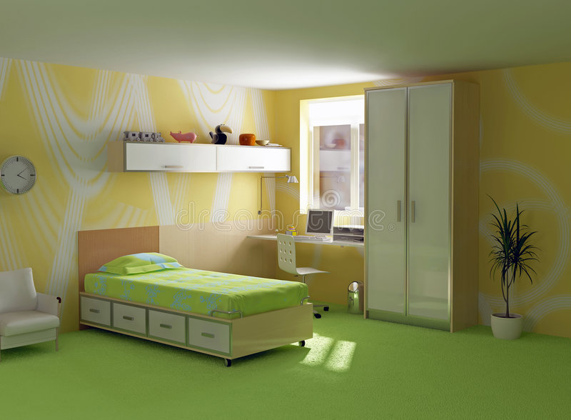 Childroom modern interior royalty free illustration