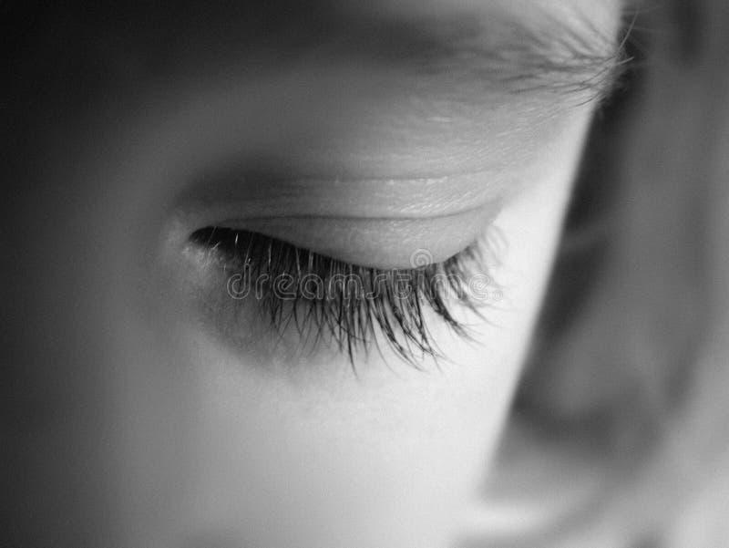 childs眼睛 免版税图库摄影