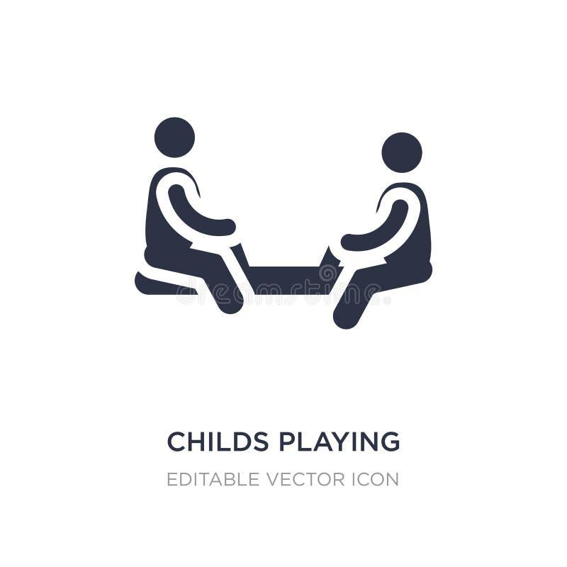childs παίζοντας στο εικονίδιο playgrpound στο άσπρο υπόβαθρο Απλή απεικόνιση στοιχείων από την έννοια ανθρώπων διανυσματική απεικόνιση