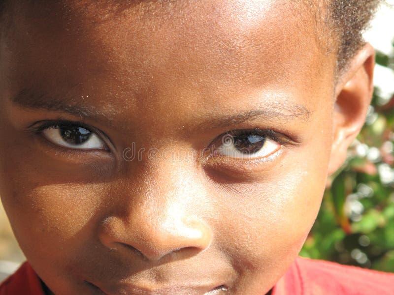 Childs Augen lizenzfreies stockfoto