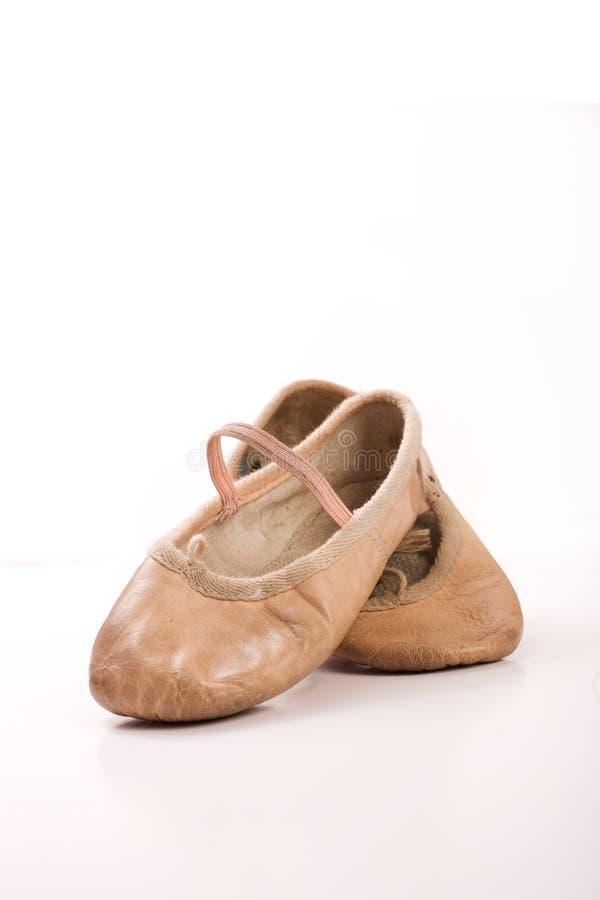 childs baletniczy buty używać dobrze będącymi ubranym zdjęcia royalty free