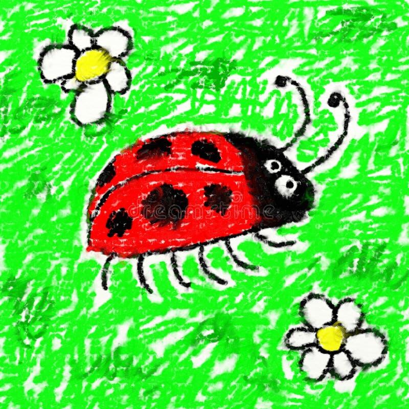 childs biedronka royalty ilustracja