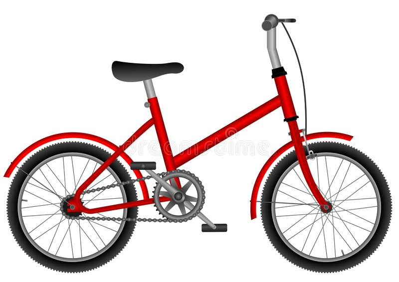 childs bike иллюстрация вектора