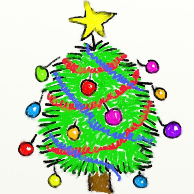 Childs Christmas tree vector illustration