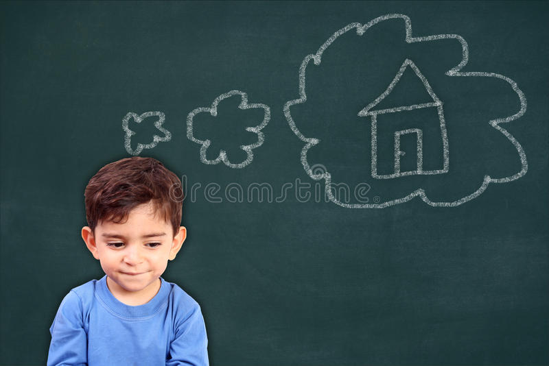Childs dream home stock photo