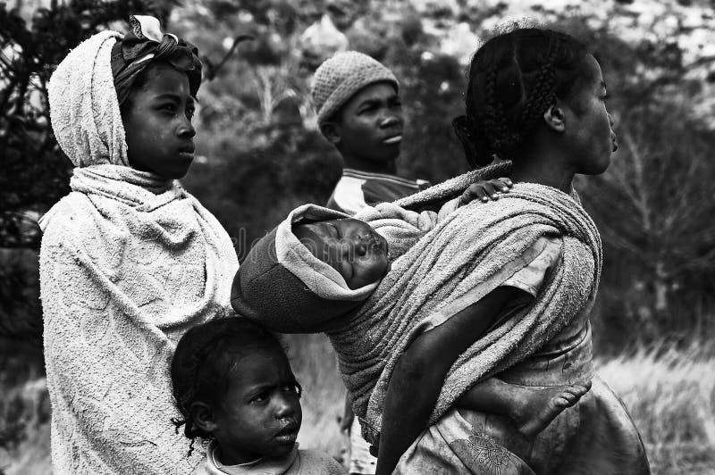 Childs en Madagascar imagenes de archivo