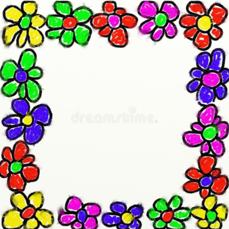 Childs flower frame stock illustration