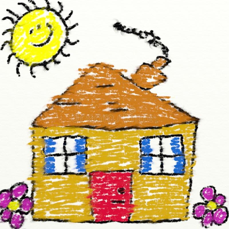 Childs Haus stock abbildung