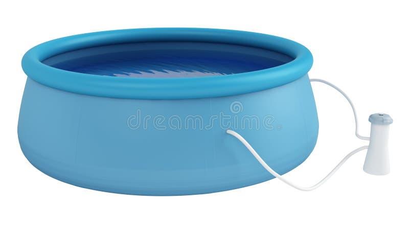 Childs plastikowy dopłynięcia basen ilustracji