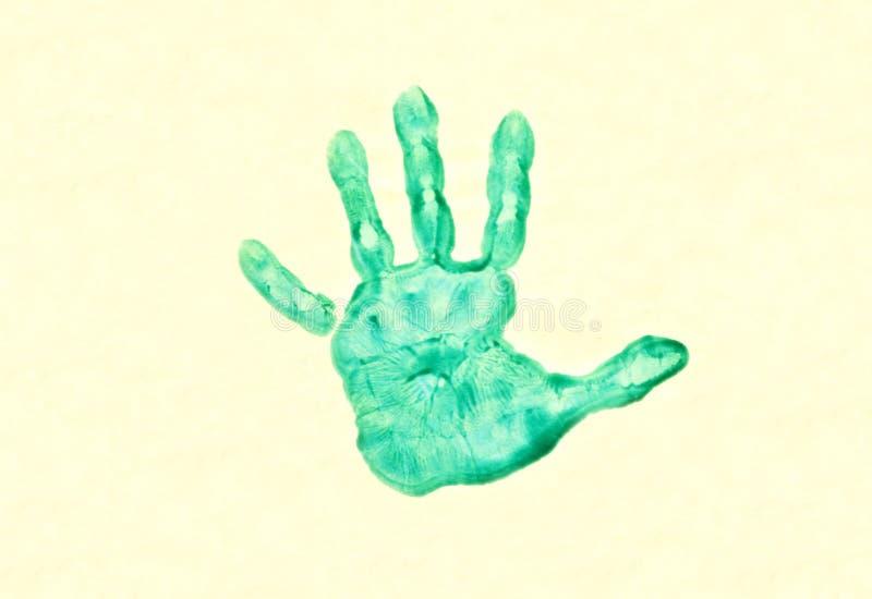 childs ręki druk obraz stock