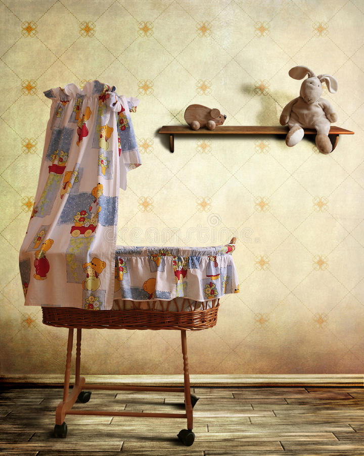 Childs room stock image