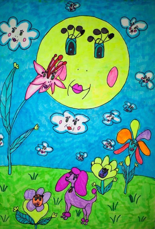 Childs rysować obraz royalty free