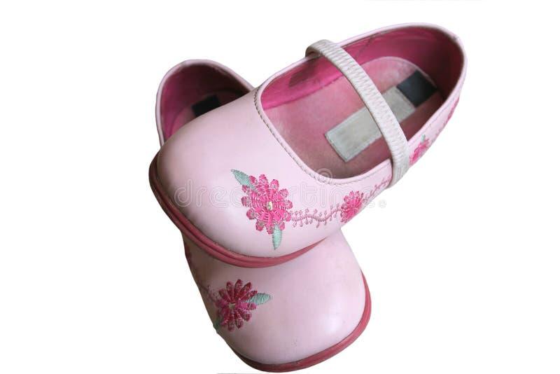 Childs Schuhe stockbild