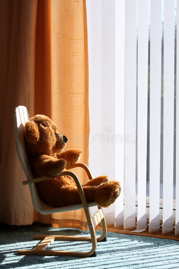 Free Childs Teddy Bear Relaxing In The Sunshine Stock Photography - 7131842