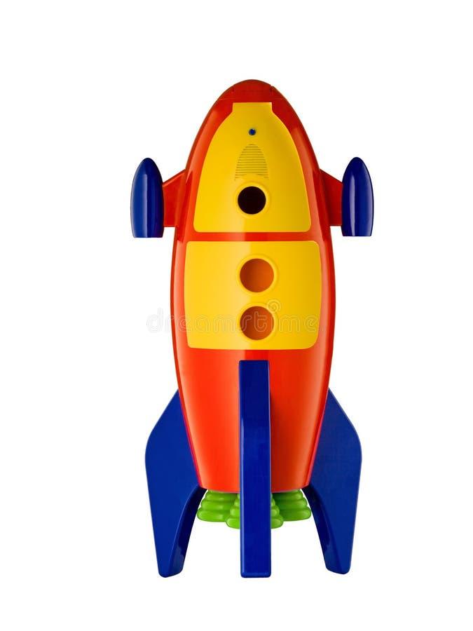 Free Childs Toy Rocket On White Background Royalty Free Stock Photo - 65292415
