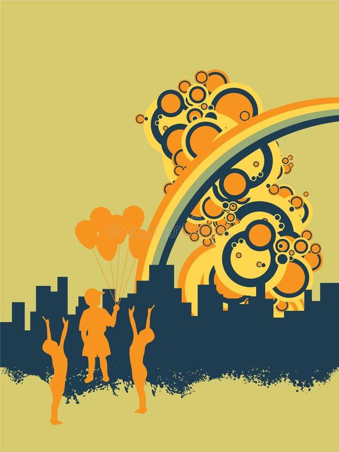 Childs urbano ilustración del vector