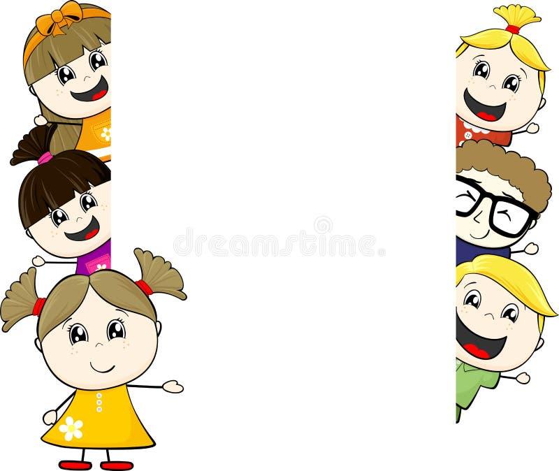 Childs y tablero en blanco stock de ilustración