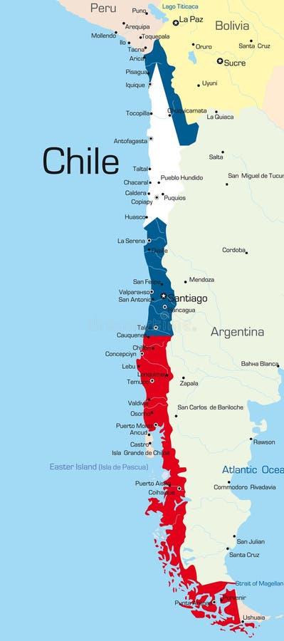 Chile lizenzfreie abbildung