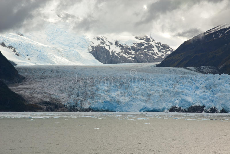 Download Chile - Amalia Glacier In A Cloudy Day Stock Photo - Image of cloudy, frozen: 42660510