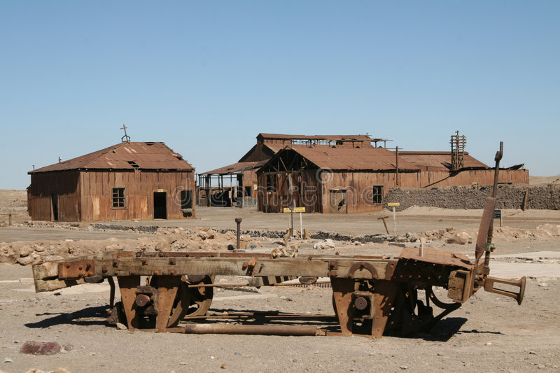 chile atacama pustyni miasto duchów zdjęcia royalty free
