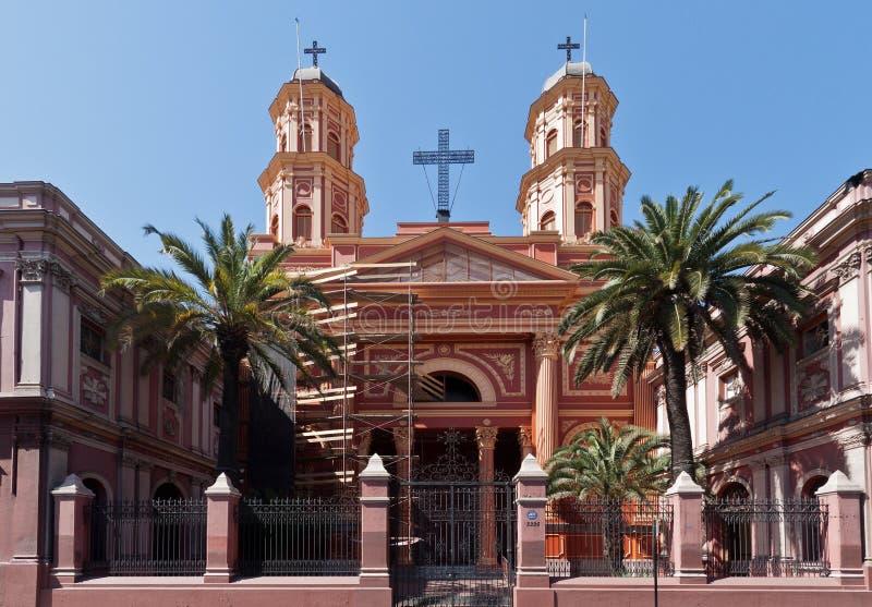 chile congregacion de la preciosa sangre santiago arkivbild