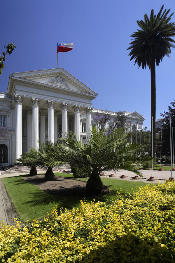 chile congreso nacional Santiago zdjęcia stock