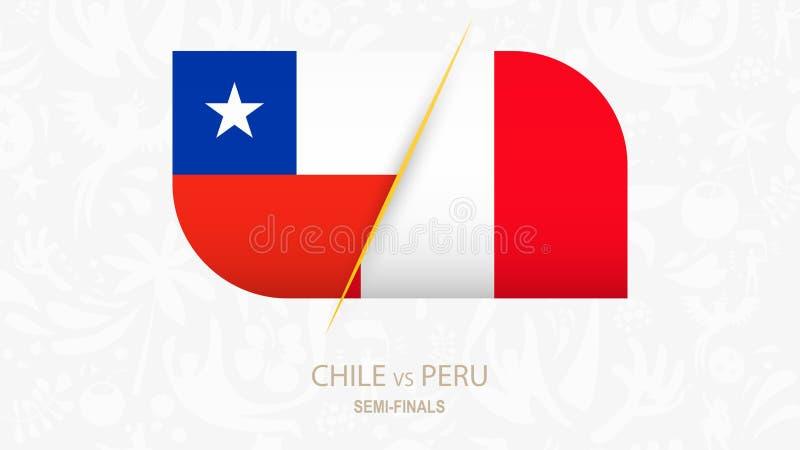 Chile contra Perú, Semi-finales de la competencia del fútbol libre illustration