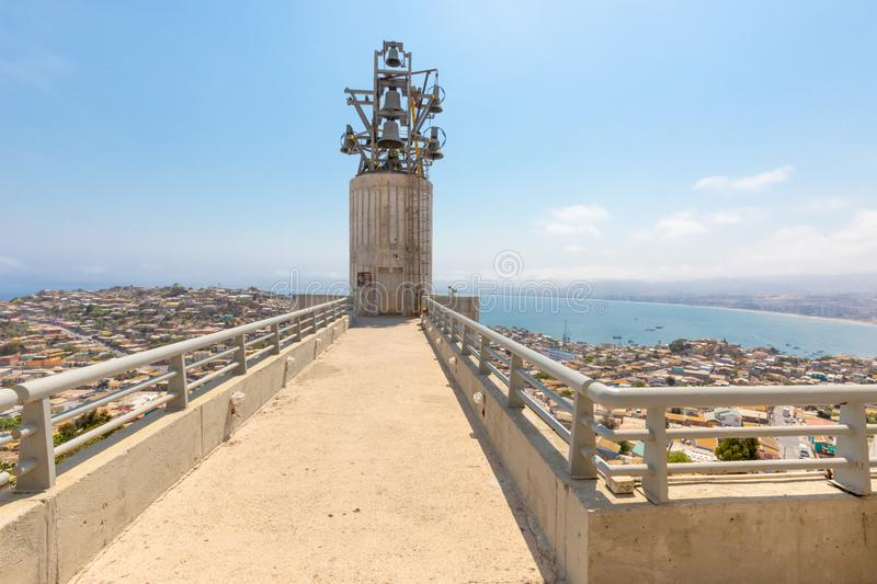 Chile Coquimbo bell tower of the monumental cross of the third millennium stock photos