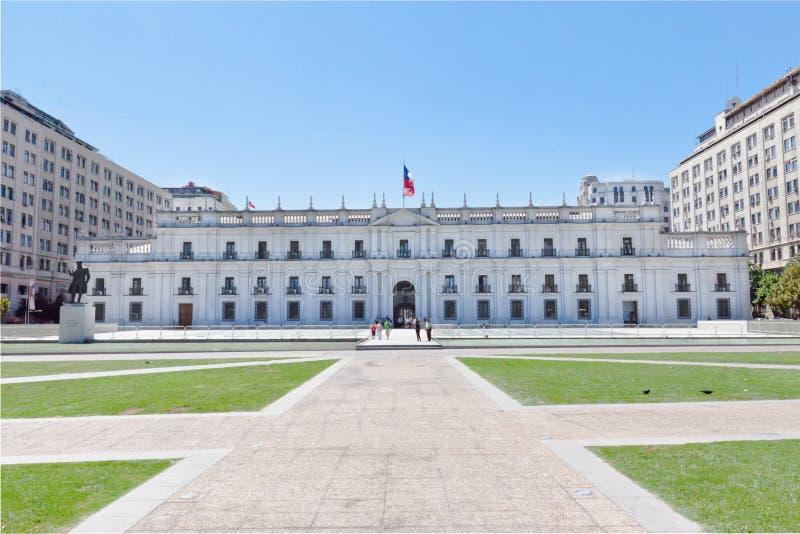 chile de gör lamonedapalacioen santiago fotografering för bildbyråer