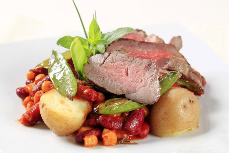 Chile de la carne de vaca de carne asada y de la haba roja imagen de archivo libre de regalías
