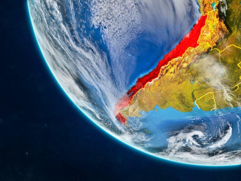 Chile del espacio en la tierra libre illustration