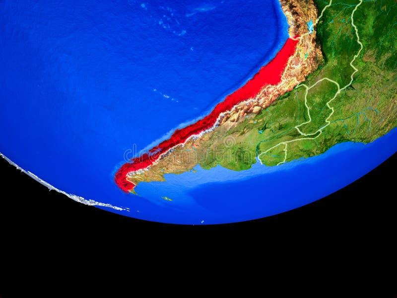 Chile del espacio en la tierra ilustración del vector